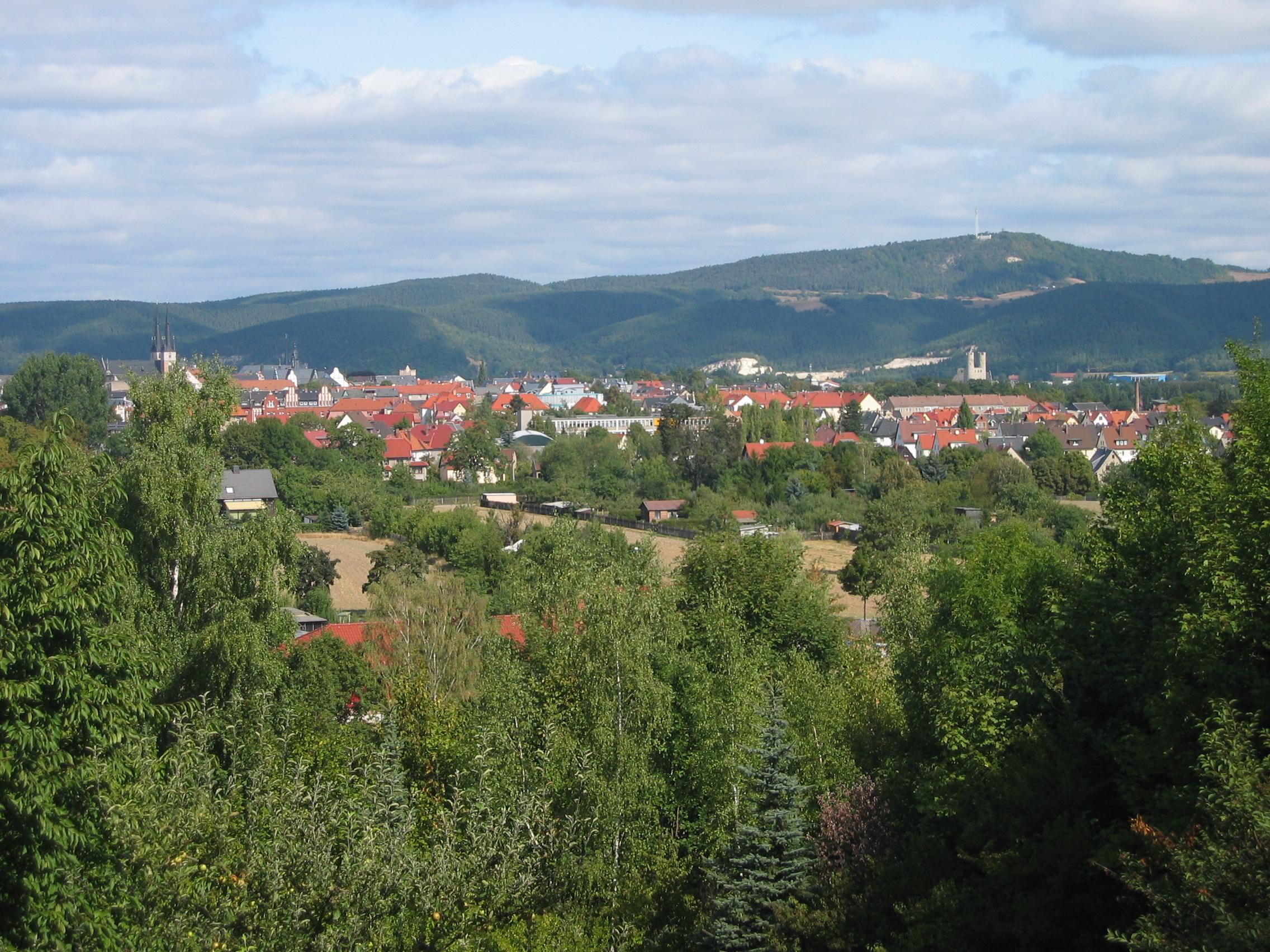 Saalfeld vom Bergfried aus gesehen
